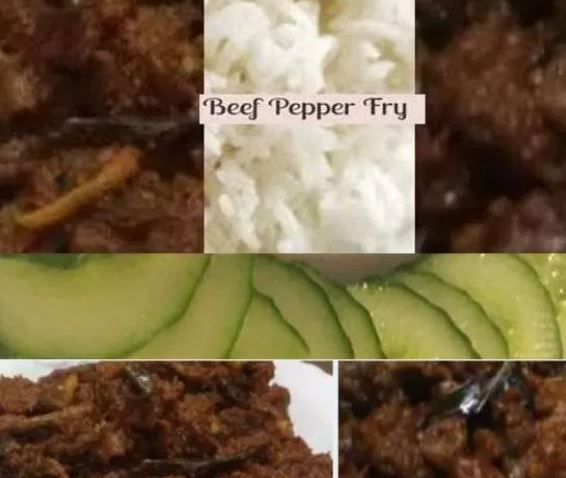 Beef fry rice