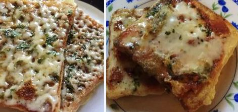 Cheesy Bread Pizza 2 ways