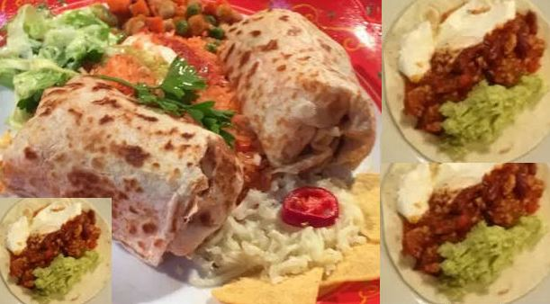 Mexical Burrito Recipe with Salad and Rice