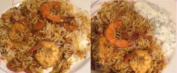 Biryani Rice Prawn Pilau or Pilaf