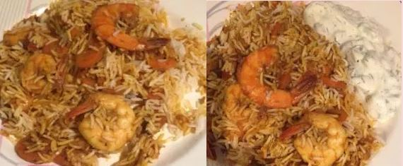 Biryani Rice Prawn Pilau or Pilaf