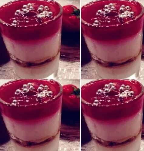 Strawberry Trifle with Mixed Nuts