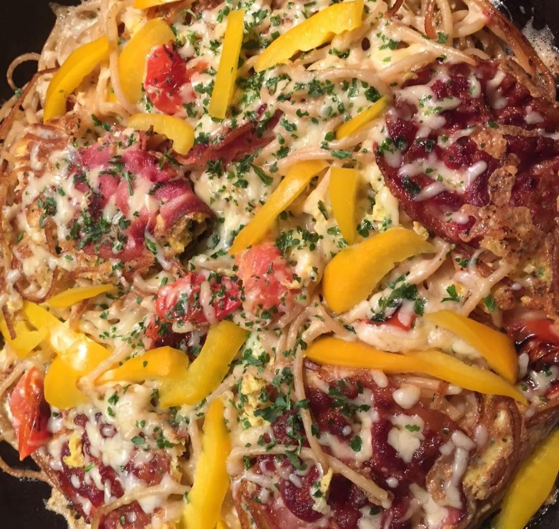 Spinach Spagetti Fritatta