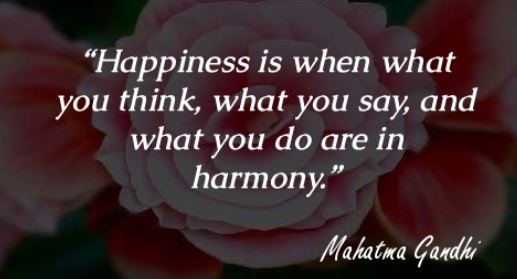 Happiness and Harmony Quote
