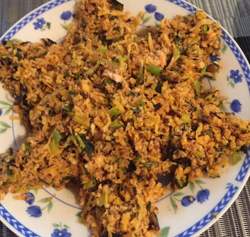 Meen Peera My Way - Scrambled Fish with Grated Coconut