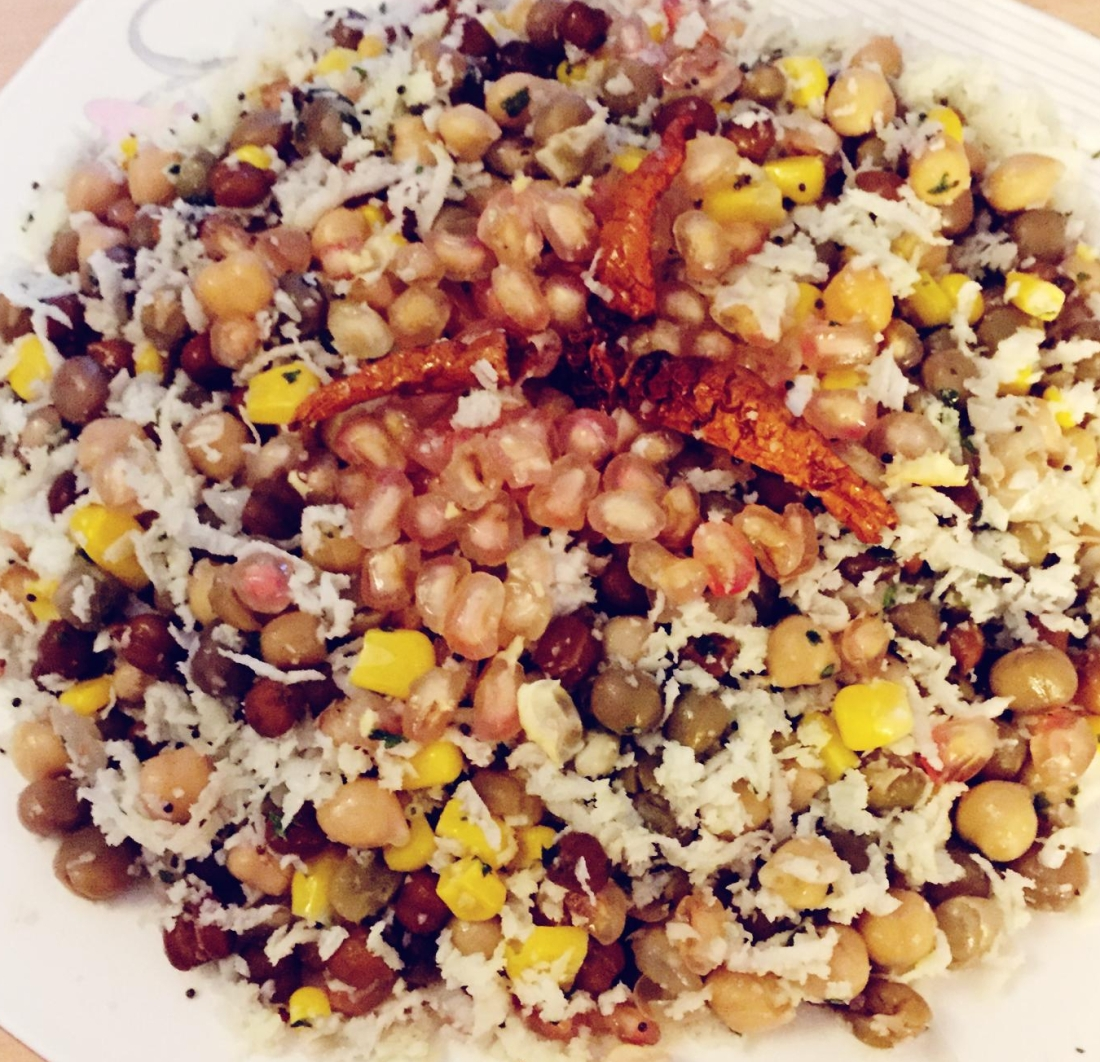 Sundal - Mixed Dried Beans Salad Navaratri Recipes