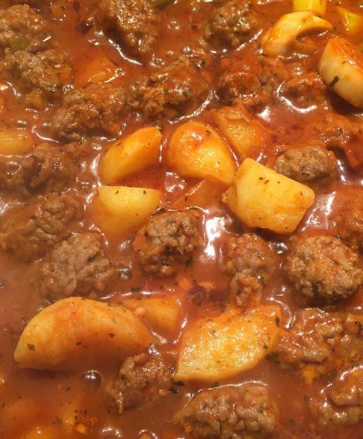 minty meatballs Lebenese Daoud Basha recipe