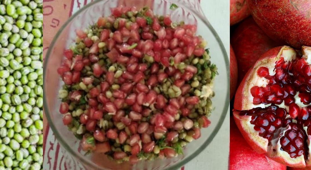 Pomegranate Lentil Sprout Salad