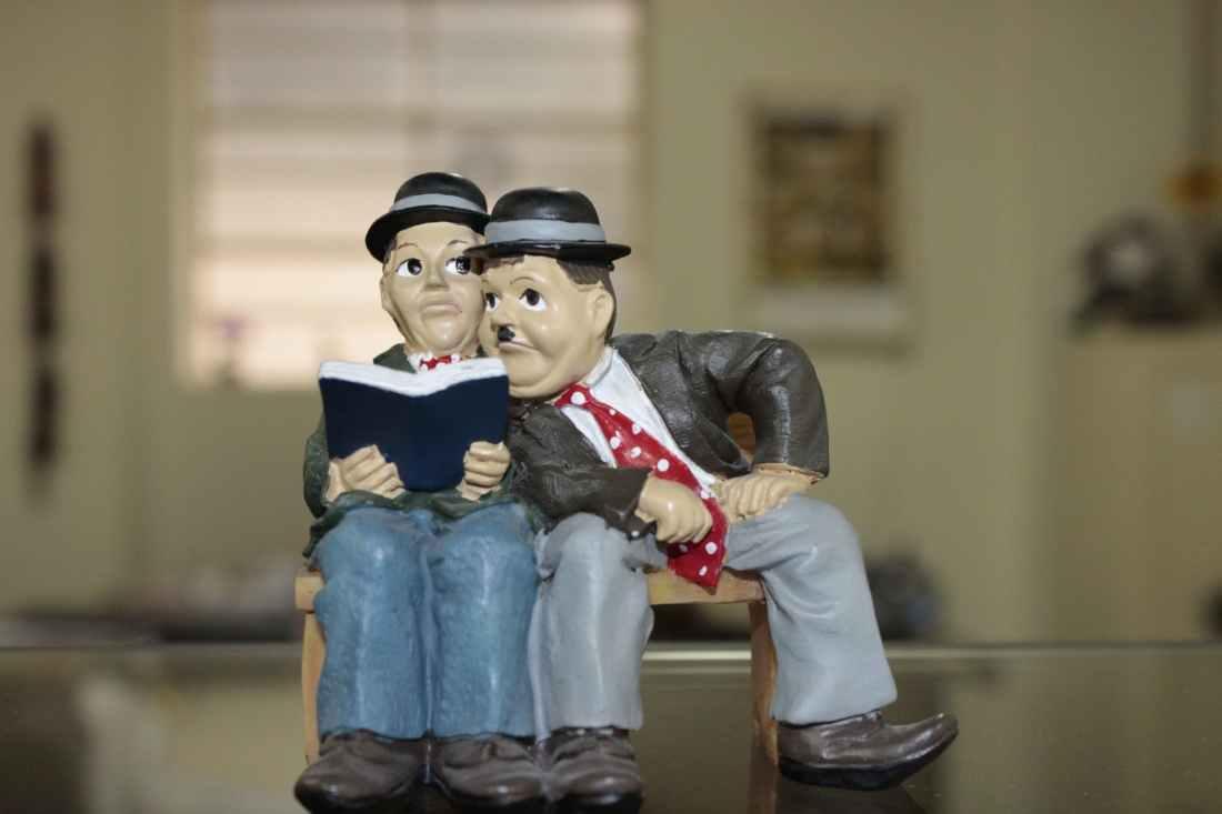 charlie chaplin ceramic figurine