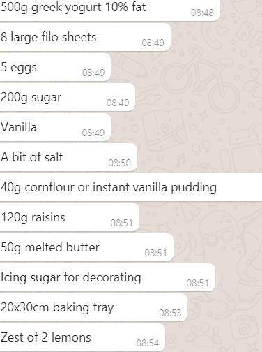Ingredients Yogurt Pie